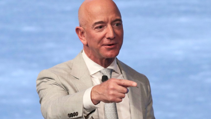 Mandatory Credit: Photo by Charles Krupa/AP/Shutterstock (10631223a)Amazon founder Jeff Bezos during the JFK Space Summit at the John F.