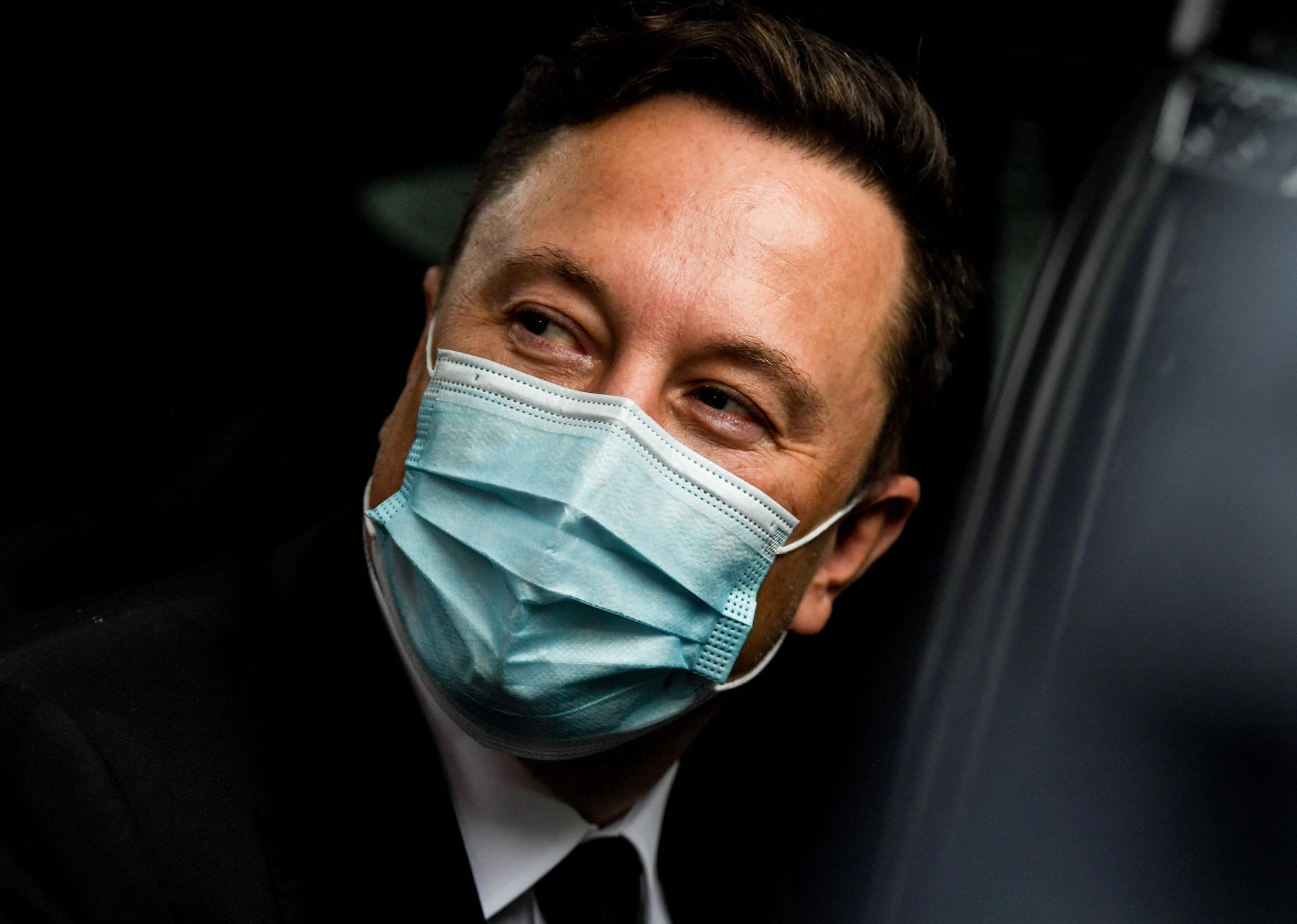 Mandatory Credit: Photo by FILIP SINGER/POOL/EPA-EFE/Shutterstock (10763436v)Tesla and SpaceX CEO Elon Musk leaves the Westhafen Event & Convention Center after attending the CDU/CSU faction meeting Berlin, Germany, 02 September 2020.