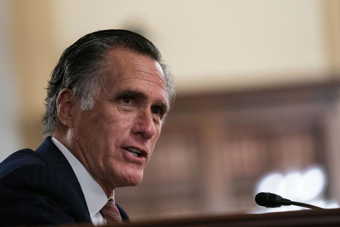 Mandatory Credit: Photo by Shutterstock (11717282r)United States Senator Mitt Romney (Republican of Utah), asks Antony J.