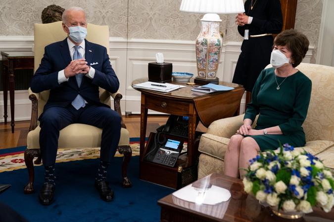 Mandatory Credit: Photo by Evan Vucci/AP/Shutterstock (11739493s)President Joe Biden meets with Sen.