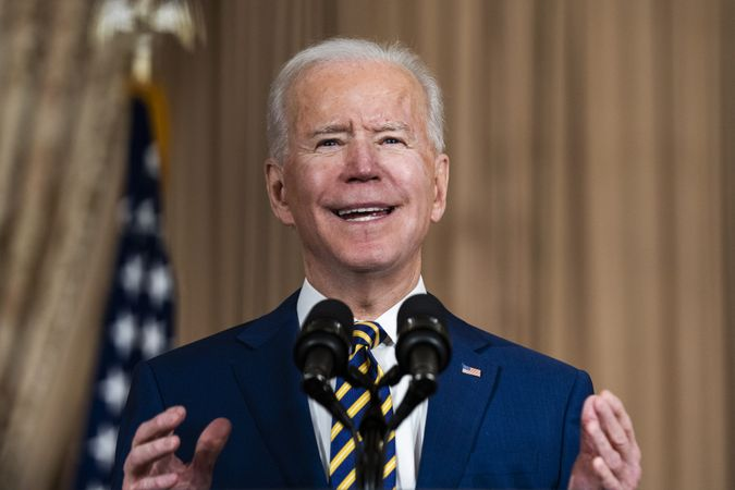 Mandatory Credit: Photo by Shutterstock (11746645p)US President Joe Biden makes a foreign policy speech at the State Department in Washington, DC, USA, 04.