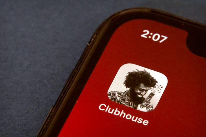 Mandatory Credit: Photo by Mark Schiefelbein/AP/Shutterstock (11753040a)The icon for the social media app Clubhouse is seen on a smartphone screen in Beijing, .