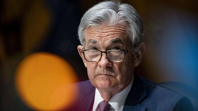 Mandatory Credit: Photo by Al Drago/AP/Shutterstock (11764000a)Federal Reserve Chair Jerome Powell listens during a Senate Banking Committee hearing on Capitol Hill in Washington.