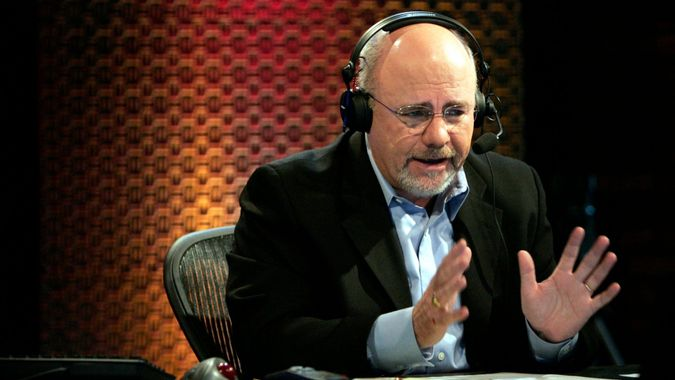 Mandatory Credit: Photo by Mark Humphrey/AP/Shutterstock (6378435j)Dave Ramsey Financial talk show host Dave Ramsey works in his broadcast studio in Brentwood, Tenn.