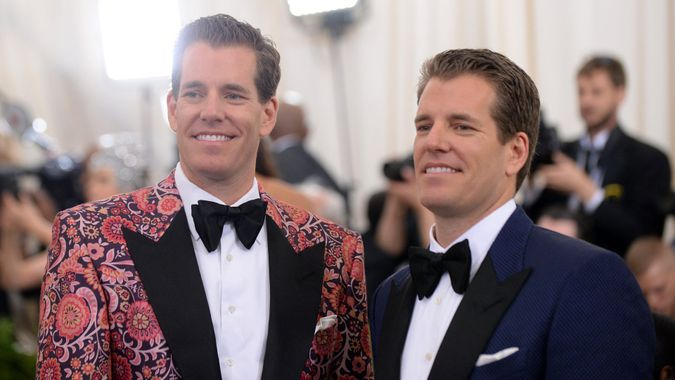 Mandatory Credit: Photo by Richard Young/Shutterstock (8772990ek)Tyler Winklevoss and Cameron WinklevossThe Costume Institute Benefit celebrating the opening of Rei Kawakubo/Comme des Garcons: Art of the In-Between, Arrivals, The Metropolitan Museum of Art, New York, USA - 01 May 2017.