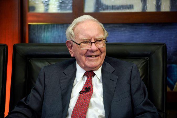 Mandatory Credit: Photo by Nati Harnik/AP/Shutterstock (9665074s)Berkshire Hathaway Chairman and CEO Warren Buffett smiles during an interview in Omaha, Neb.