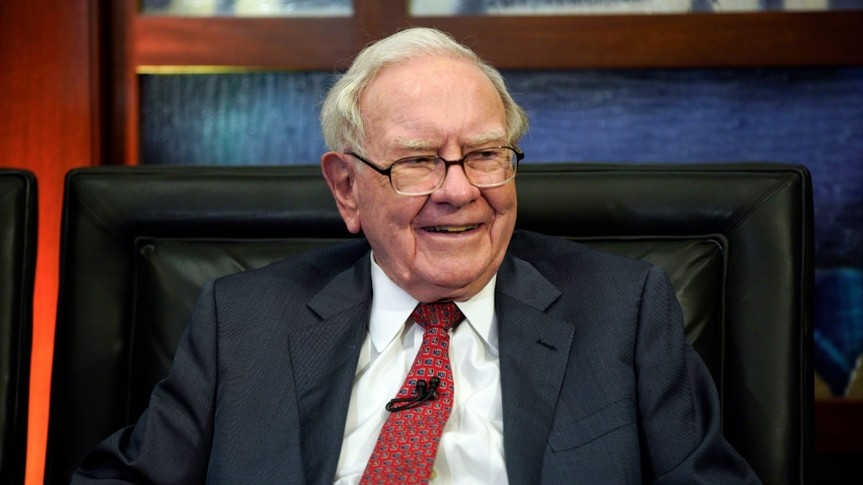 Mandatory Credit: Photo by Nati Harnik/AP/Shutterstock (9665074s)Berkshire Hathaway Chairman and CEO Warren Buffett smiles during an interview in Omaha, Neb.