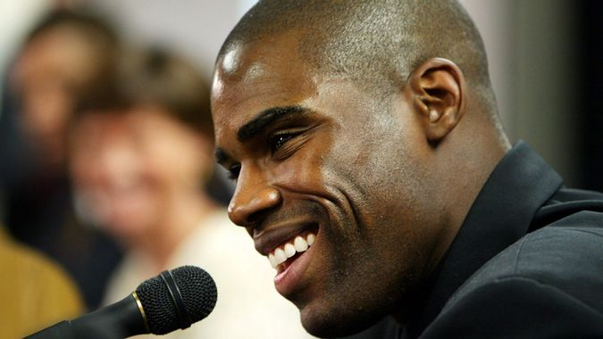 Mandatory Credit: Photo by Manuel Balce Ceneta/AP/Shutterstock (6411045b)JAMISON New Washington Wizards player Antawn Jamison answers questions as he is introduced to the media at a news conference, in Washington.