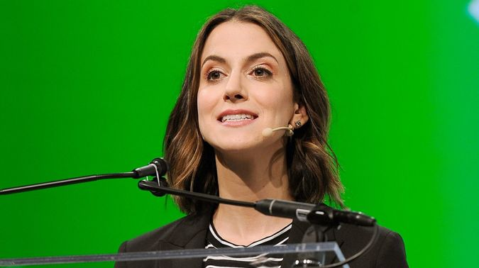 SAN FRANCISCO, CA - SEPTEMBER 06:  Mirror Founder and CEO Brynn Putnam speaks onstage during Day 2 of TechCrunch Disrupt SF 2018 at Moscone Center on September 6, 2018 in San Francisco, California.