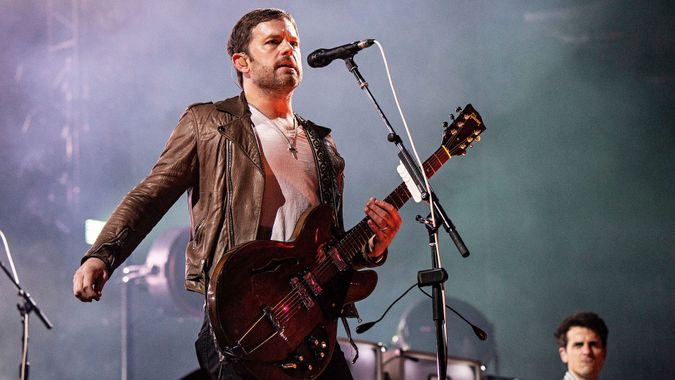 Mandatory Credit: Photo by Amy Harris/Invision/AP/Shutterstock (10413525p)Caleb Followill of Kings of Leon performs during KAABOO 2019 at the Del Mar Racetrack and Fairgrounds, in San Diego, Calif2019 KAABOO - Day 1, Del Mar, USA - 13 Sep 2019.