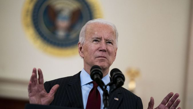 Mandatory Credit: Photo by Doug Mills/UPI/Shutterstock (11771986b)President Joe Biden delivers remarks on the lives lost to COVID-19 in the Cross Hall of the White HouseCovid death toll in U.