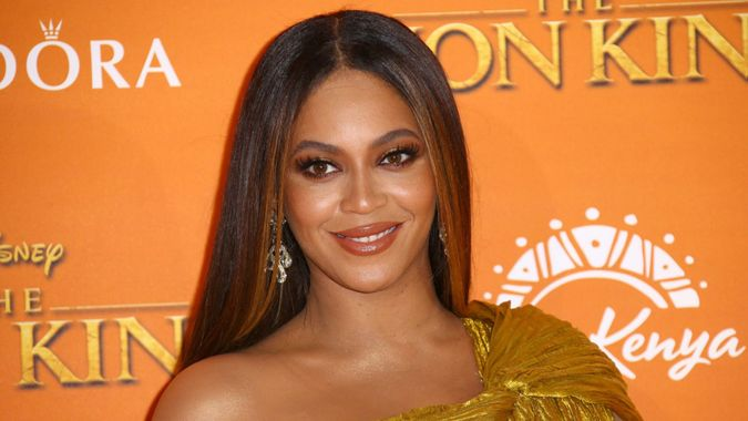 """Mandatory Credit: Photo by Joel C Ryan/Invision/AP/Shutterstock (10651972a)Beyonce at the """"Lion King"""" premiere in London."""