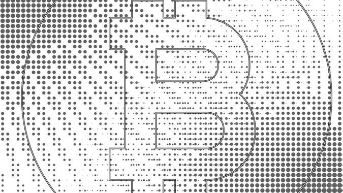 blockchain logo with polka dot style graphics