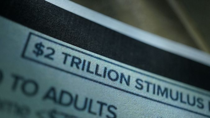close up shot of stimulus package.