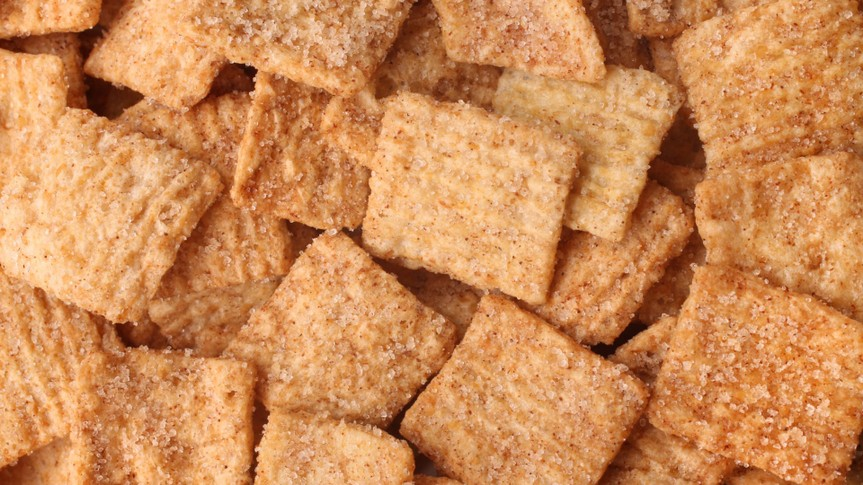 Cinnamon toast crunch, for backgrounds or textures.
