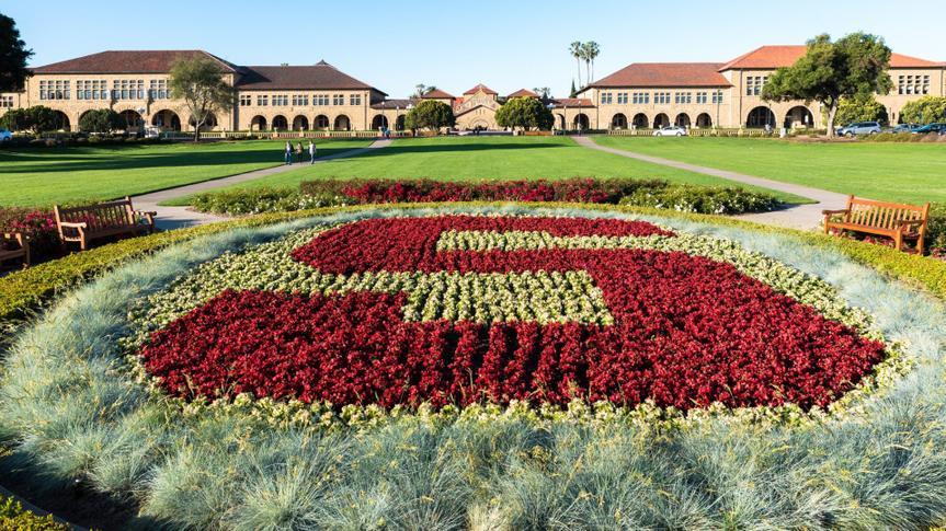 Palo Alto, CA USA May 20, 2017: University logo at Main Camus of Stanford.