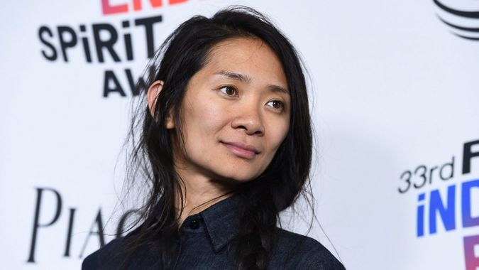Mandatory Credit: Photo by Jordan Strauss/Invision/AP/Shutterstock (9448000s)Chloe Zhao, winner of the Bonnie award, poses in the press room at the 33rd Film Independent Spirit Awards, in Santa Monica, Calif2018 Film Independent Spirit Awards - Press Room, Santa Monica, USA - 03 Mar 2018.