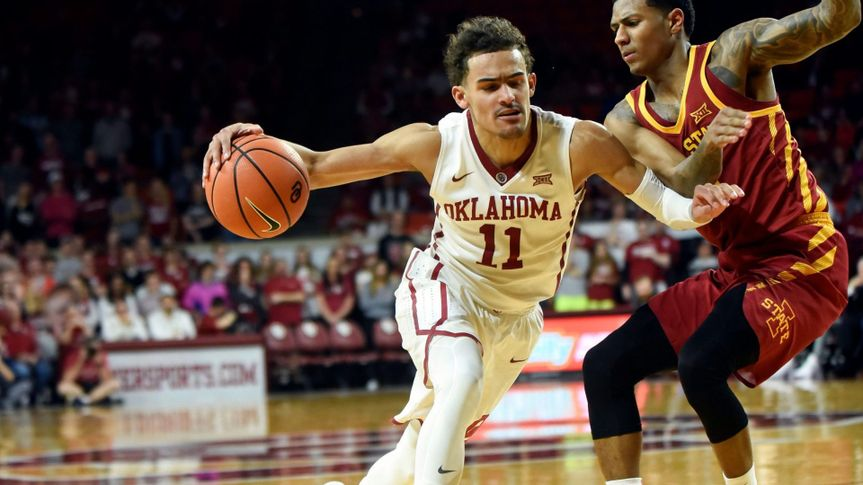 Mandatory Credit: Photo by Kyle Phillips/AP/Shutterstock (9447405j)Trae Young, Donovan Jackson.