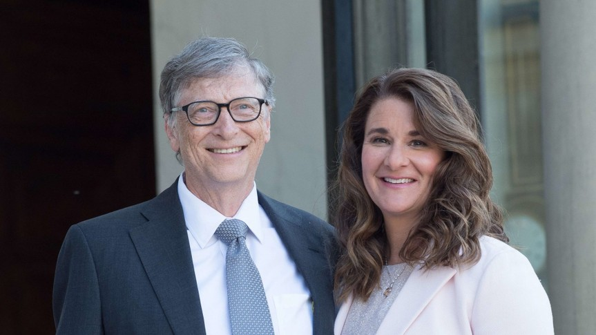 Mandatory Credit: Photo by Pierre Villard/Sipa/Shutterstock (8625993q)Bill Gates and Melinda GatesBill and Melinda Gates receive the French Legion of Honor, Paris, France - 21 Apr 2017At the Elysee presidential palace to attend a reception in honour of Bill Gates.