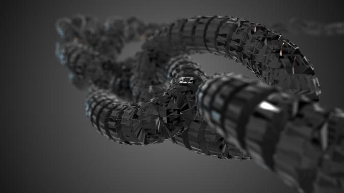 black and gray blackchain altcoin