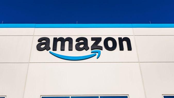 Henderson, Nevada, United States - August 17, 2020: Amazon fulfillment center exterior shot in Henderson Nevada USA .