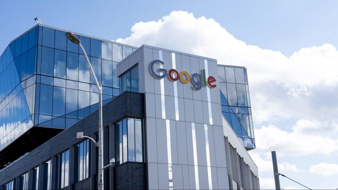 Kitchener-Waterloo, On, Canada - October 17, 2020: Google office building in Kitchener-Waterloo, Ontario on October 17, 2020.
