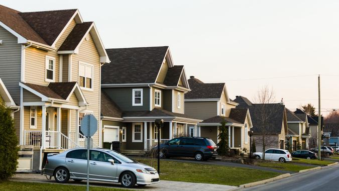 Homes in a row.