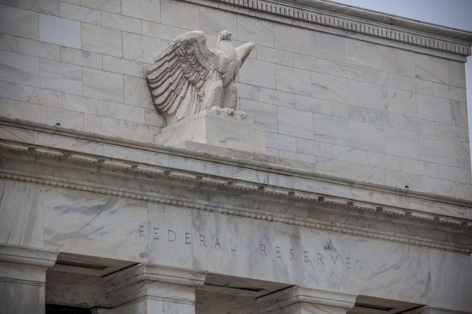 Federal Reserve Building detail.