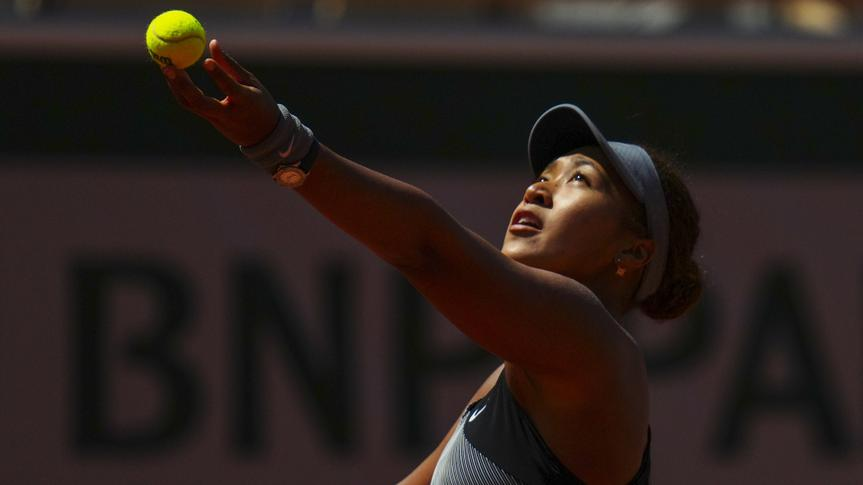 Mandatory Credit: Photo by Javier Garcia/BPI/Shutterstock (11977037qd)Naomi Osaka during her first round matchFrench Open Tennis, Day One, Roland Garros, Paris, France - 30 May 2021.