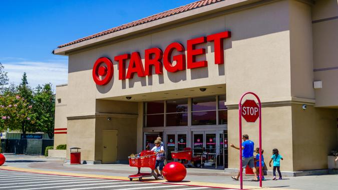 July 30, 2018 Cupertino / CA / USA - Entrance to one of the Target stores located in south San Francisco bay area.