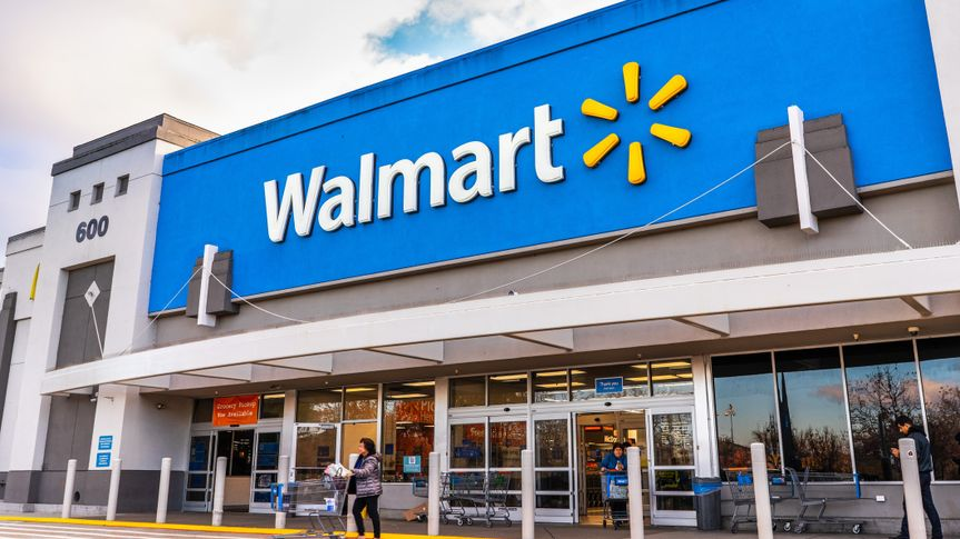 Jan 9, 2020 Mountain View / CA/ USA - People shopping at a Walmart store in south San Francisco bay area.