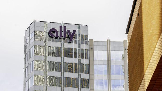 Charlotte, North Carolina, USA - January 15, 2020: Ally bank building in Charlotte, North Carolina, USA.