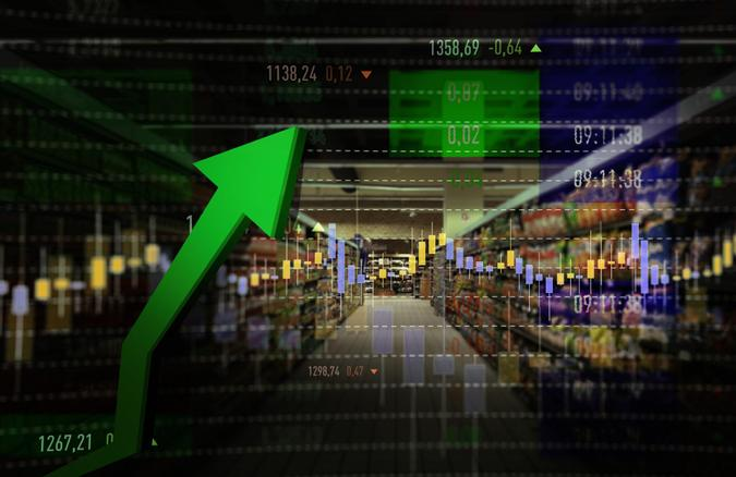 Groceries, Retail, Stock Market Data, Moving Up, Growth.