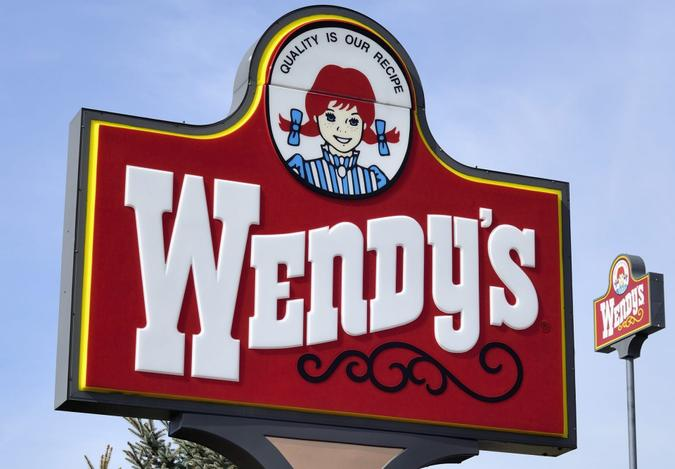 """""""Clio, Michigan, USA - March 7, 2012: The Wendy's location in Clio, Michigan."""