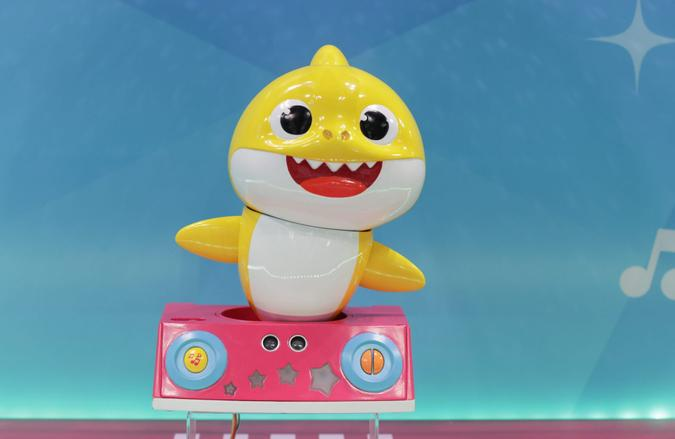 Editorial use onlyMandatory Credit: Photo by Europa Newswire/Shutterstock (10565131b)Baby Shark Toy from PinkFongToy Fair, New York, USA - 22 Feb 2020The Toy Industry Association (TIA) ) Claim that the New York Toy Fair is One of the Largest Toy Show in the World.
