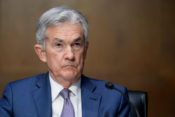 Mandatory Credit: Photo by Susan Walsh/AP/Shutterstock (11088372af)Federal Reserve Chairman Jerome Powell testifies before the Senate Banking Committee on Capitol Hill in Washington, during a hearing, 'The Quarterly CARES Act Report to CongressSenate Banking, Washington, United States - 01 Dec 2020.