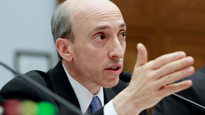 Mandatory Credit: Photo by Jacquelyn Martin/AP/Shutterstock (11858794a)Then Commodity Futures Trading Commission chairman Gary Gensler testifies before the House Financial Services Committee on Capitol Hill in Washington.