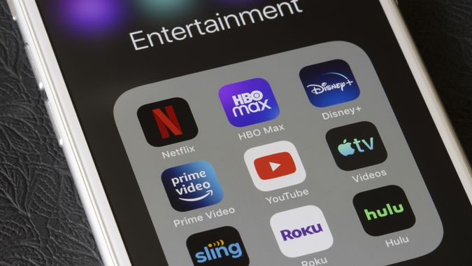 Streaming Mobile Apps stock photo