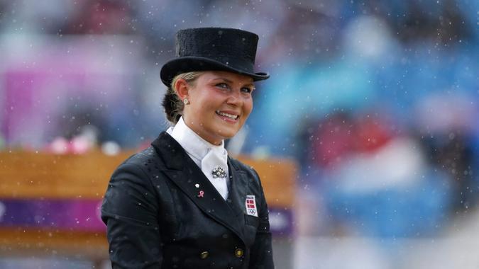 Mandatory Credit: Photo by Markus Schreiber/AP/Shutterstock (6875759bn)Anna Kasprzak Anna Kasprzak from Denmark rides Donnperignon in the equestrian dressage competition, at the 2012 Summer Olympics, in LondonLondon Olympics Equestrian.