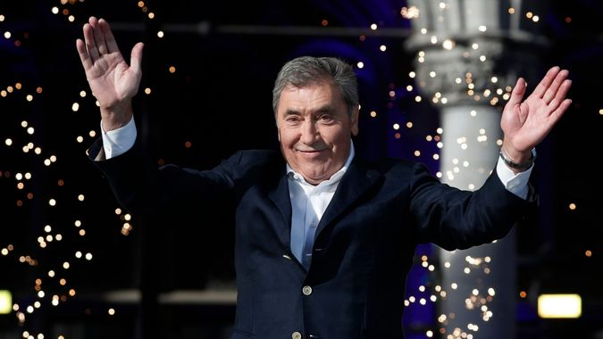 Mandatory Credit: Photo by GUILLAUME HORCAJUELO/EPA-EFE/Shutterstock (10327713bg)Belgian cyclist legend Eddy Merckx attends the team's presentation two days ahead of the 106th edition of the Tour de France cycling race in Brussels, Belgium, France, 04 July 2019.