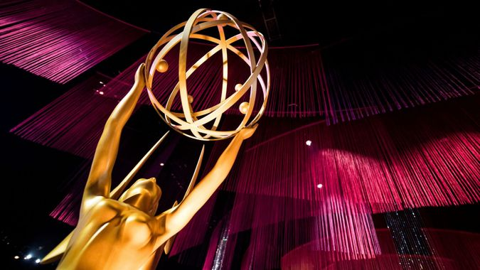 Mandatory Credit: Photo by ETIENNE LAURENT/EPA-EFE/Shutterstock (10412559u)An Emmy statue is displayed during the 71st Emmy Awards Governors Ball press preview at L.