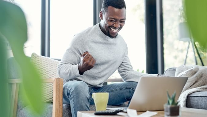 Debt free is the life for me stock photo