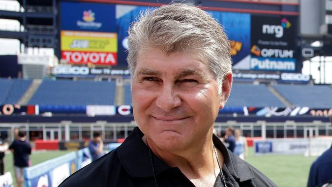 Mandatory Credit: Photo by Stephan Savoia/AP/Shutterstock (6086679a)Ray Bourque Former Boston Bruins star Ray Bourque walks on the field during an event at Gillette Stadium in Foxborough, Mass.