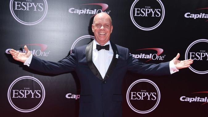 Mandatory Credit: Photo by Jordan Strauss/Invision/AP/Shutterstock (9192121dn)Sports commentator Scott Hamilton arrives at the ESPY Awards at the Microsoft Theater, in Los Angeles2016 ESPY Awards - Arrivals, Los Angeles, USA - 13 Jul 2016.