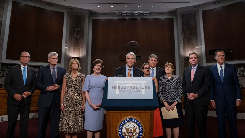 Reaction to the Vote to begin Debate on the Bipartisan Infrastructure Bill in the US Senate, Washington, District of Columbia, USA - 28 Jul 2021
