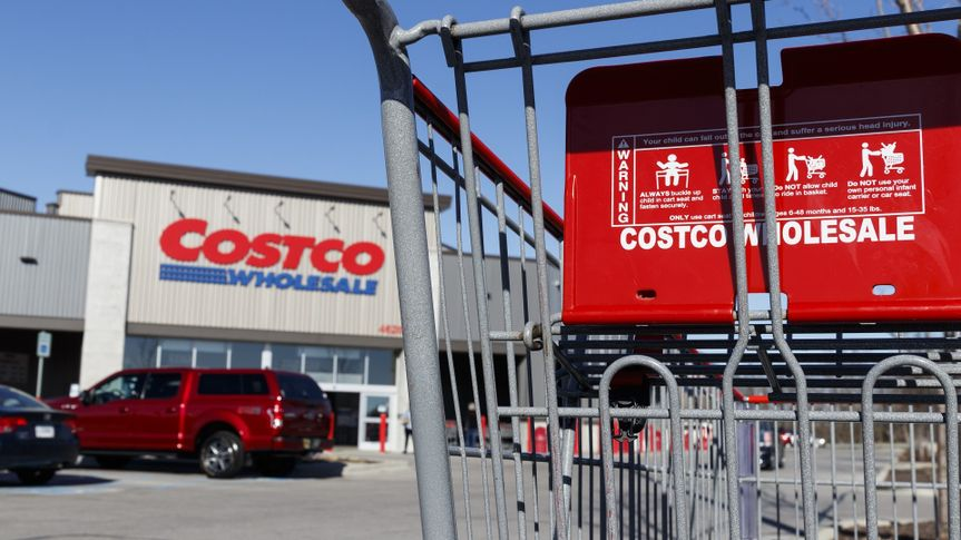 Costco Wholesale Location. Costco Wholesale is a Multi-Billion Dollar Global Retailer stock photo