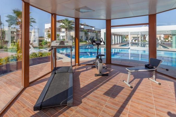 Small Gym center in resort hotel.