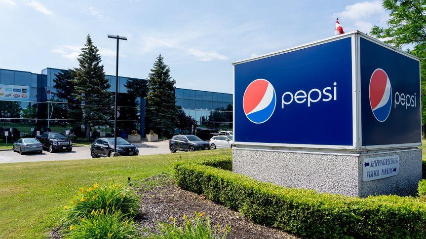 PepsiCo Canada facility on Falbourne St. in Mississauga, On, Canada. stock photo
