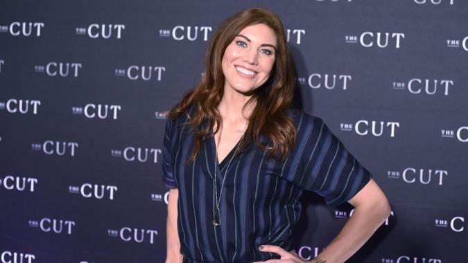 Mandatory Credit: Photo by Stephen Lovekin/Shutterstock (10129621s)Hope Solo'How I Get It Done' event hosted by The Cut, Arrivals, Brooklyn, New York, USA - 04 Mar 2019.