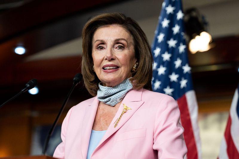 Mandatory Credit: Photo by Michael Brochstein/SOPA Images/Shutterstock (12368257k)House Speaker Nancy Pelosi (D-CA) speaks at her weekly press conference.